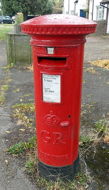 King George V postbox outside Birmingham Road Post Office, Stratford-upon-Avon