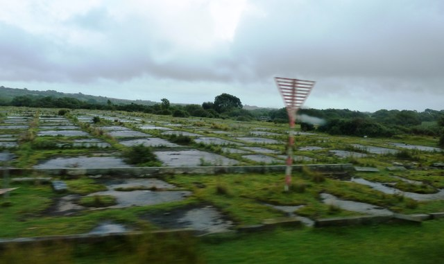Overgrown runway at Swansea Airport