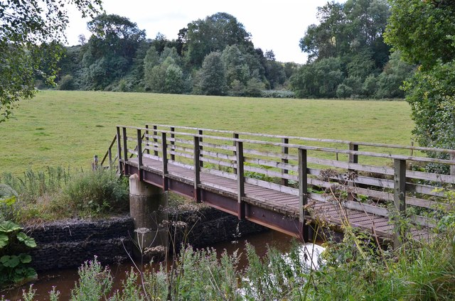 Footbridge over the Oxnam Water