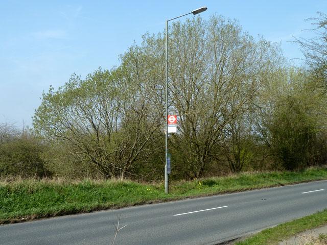 Banstead Downs northbound bus stop on Sutton Lane