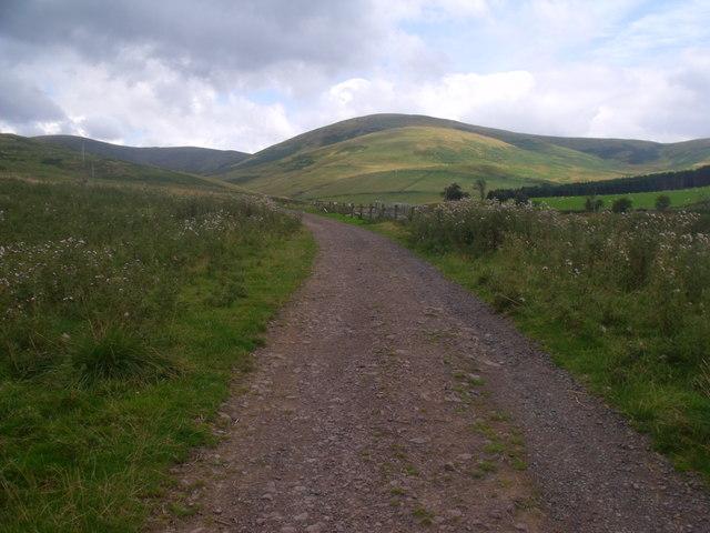 Track to Blakedean near Yetholm