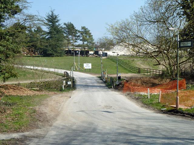 Site entrance off Woodmansterne Road