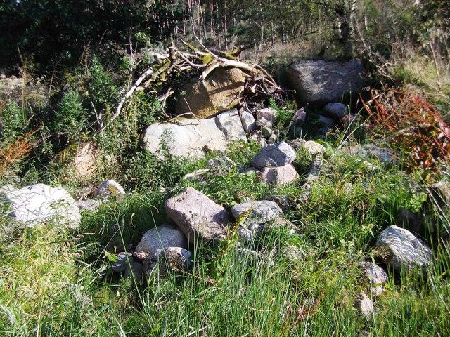 A heap of granite rocks