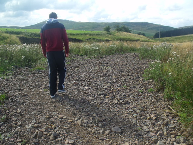 Shingle bank in Atton Burn course near Yetholm