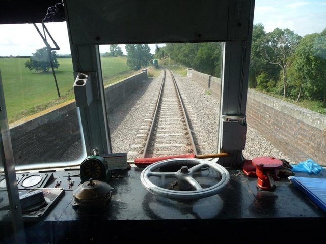 Driver's view of Stanway viaduct