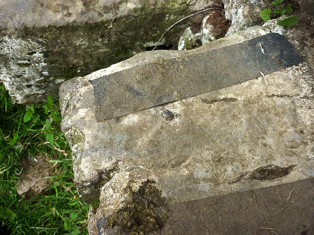 Rivet bench mark, stile on footpath to Feizor