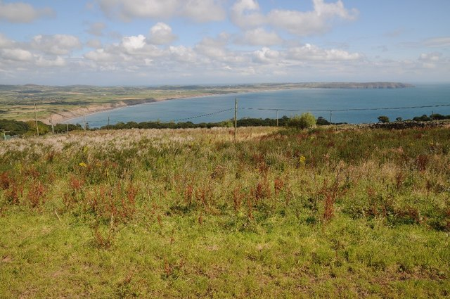 View over Neigwl Porth or Hell's Mout