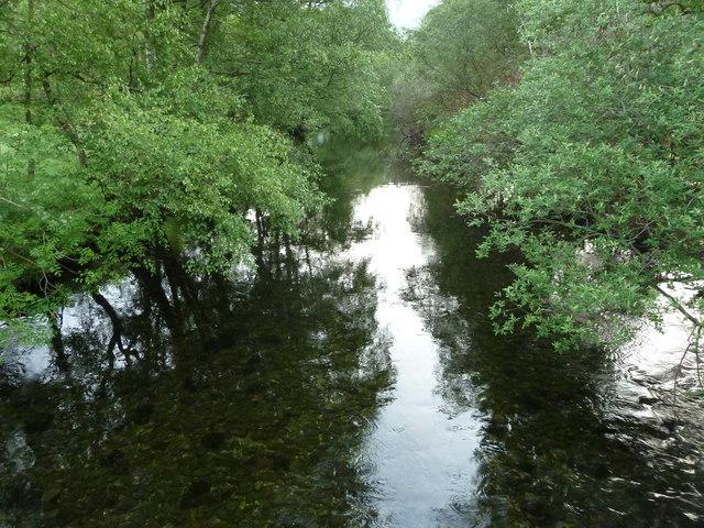 Afon Glaslyn from bridge near Bryn Dinas