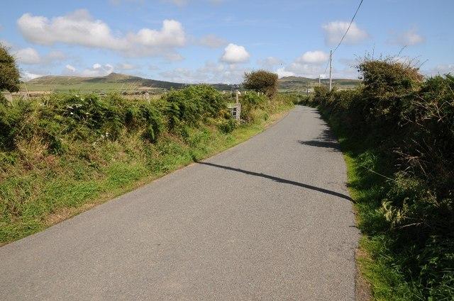 Country road near Tyddyn Meirion