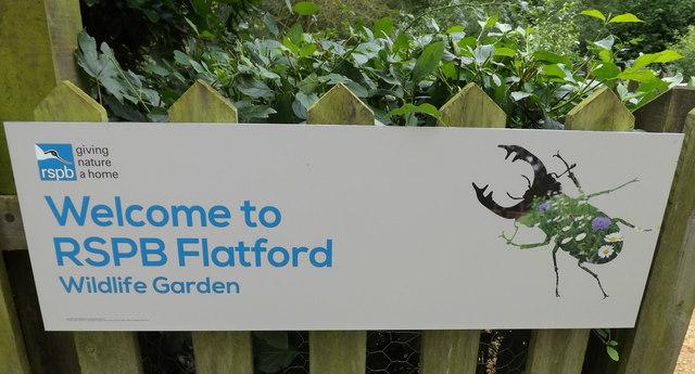 RSPB Flatford Wildlife Garden sign