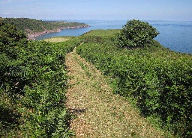 Coast path above Long Sands