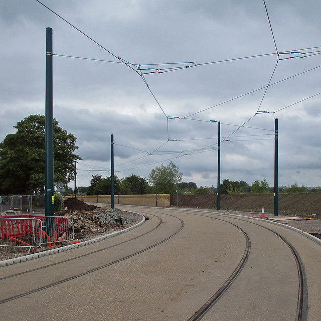 Wilford: tramway nearing completion