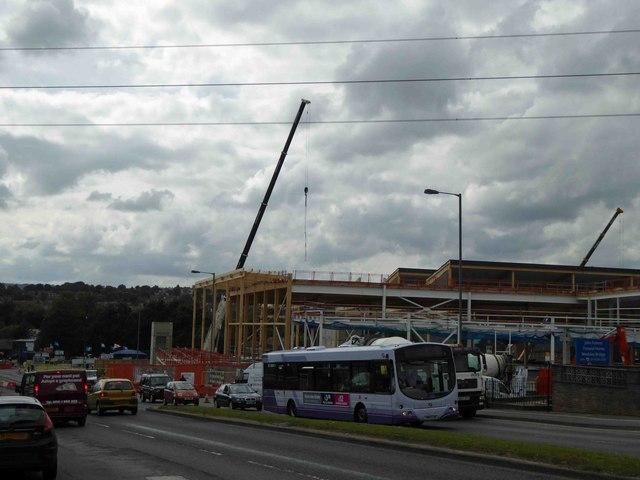 Construction of Sainsbury's supermarket at Wadsley Bridge