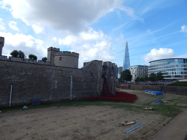 The edge of the Tower of London