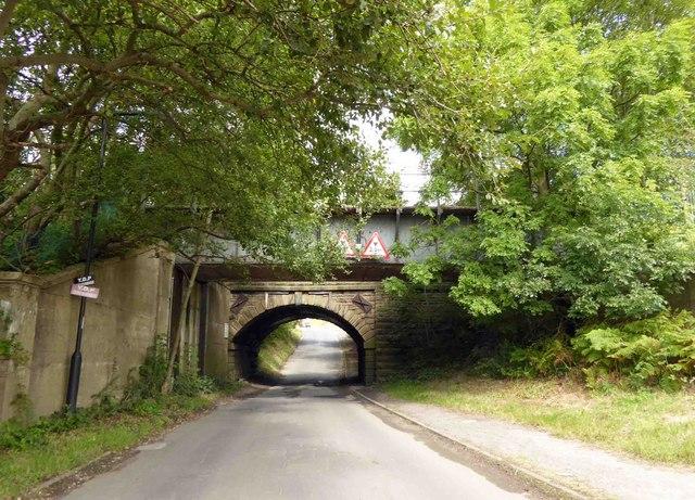 Low railway bridge on Limestone Cottage Lane Sheffield