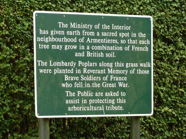 Explanatory sign, Promenade de Verdun