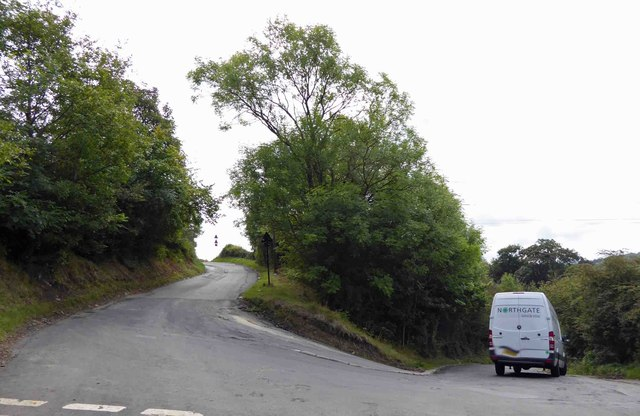 Very steep bend on junction with Hagg Hill and Midhurst Road Sheffield