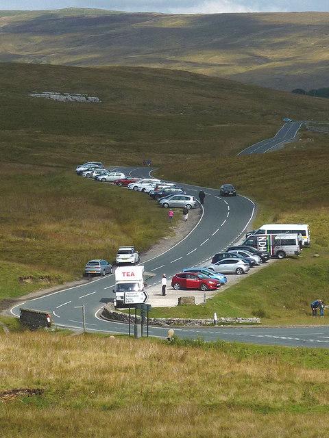 Cars at Ribblehead