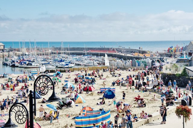 Lyme Regis: The height of the August holiday season