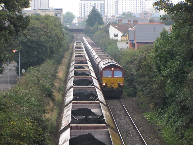Coal trains passing in Roath