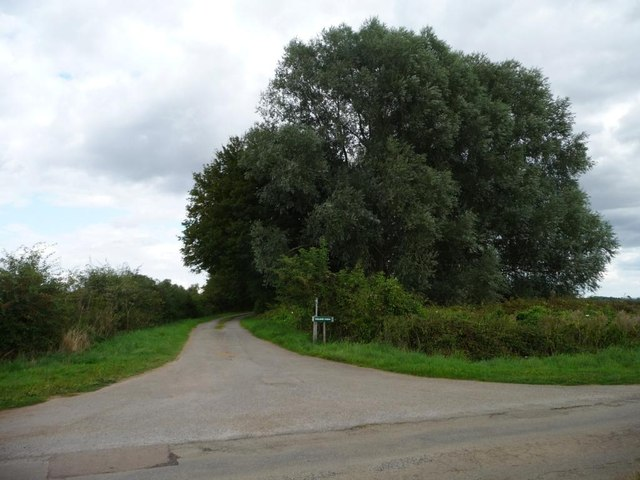 Entrance to College Farm, at a 122 metre spot height