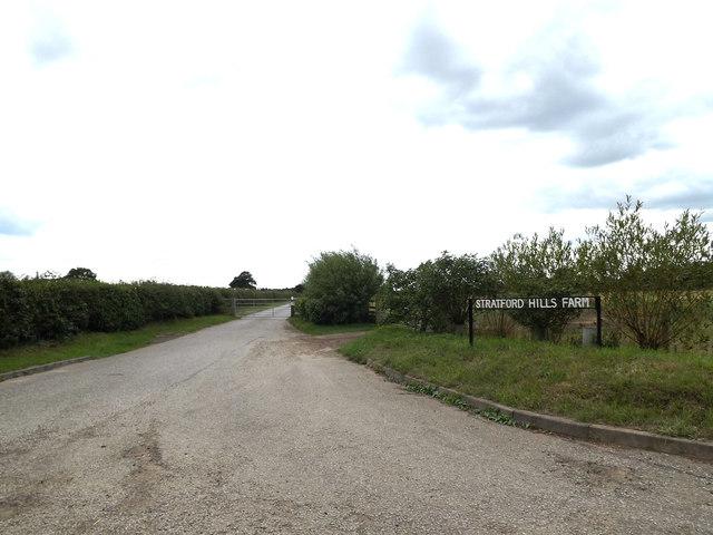 Entrance to Stratford Hills Farm