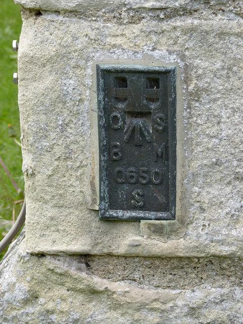 Flush bracket bench mark, St Peter's Church, East Drayton