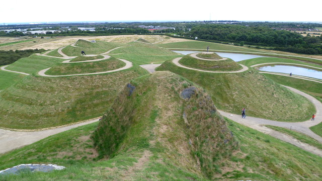 View from Northumberlandia's nose looking eastwards