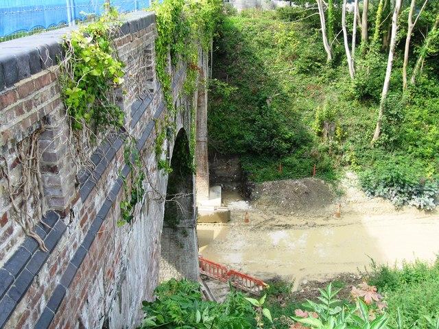 Work on dismantled railway