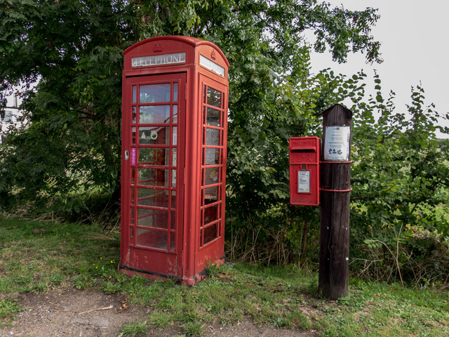Telephone and Post Boxes opposite Home Farm