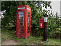 TL5462 : Telephone and Post Boxes opposite Home Farm by Kim Fyson