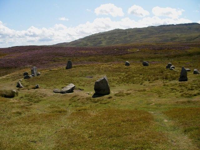Stone circle Cefn Coch