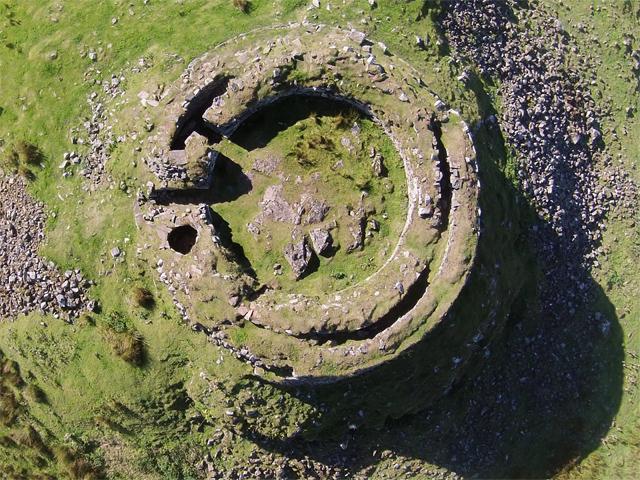 Dun Beag from above