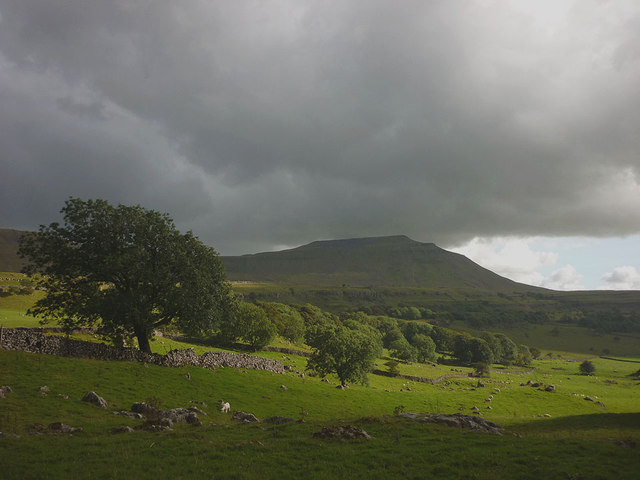 Ingleborough from south of the Hill Inn