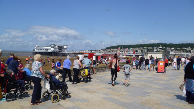 On the prom in Weston-super-Mare in August