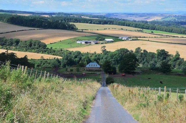 Road down to Littledeanlees