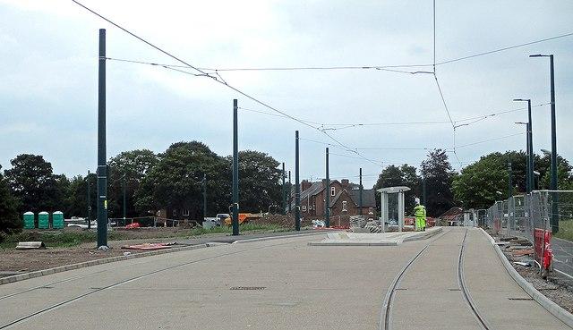 Wilford tram stop taking shape