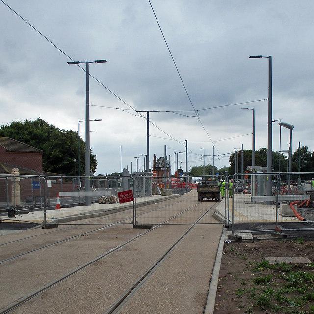 Queen's Walk tram stop nearing completion