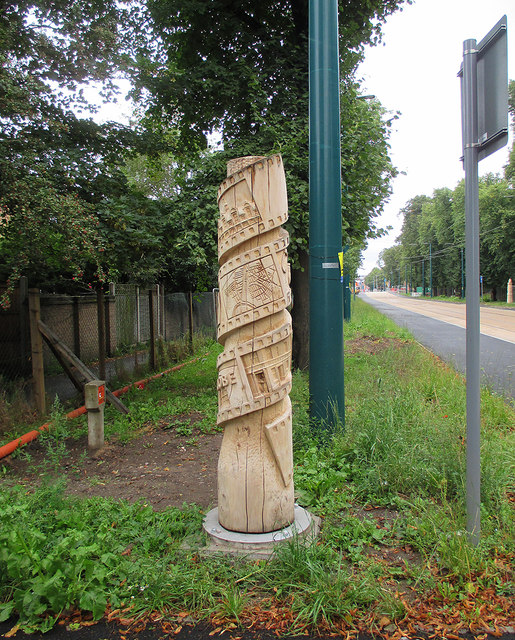 Queen's Walk and a story pole