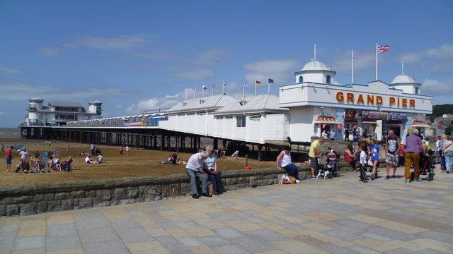 The Grand Pier at Weston-super-Mare in August