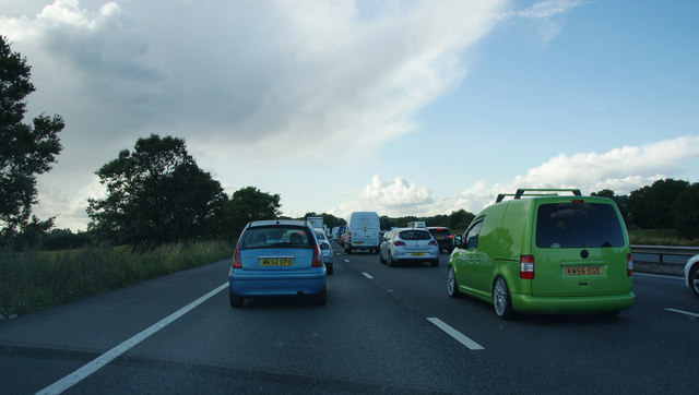 Standing traffic on the M6
