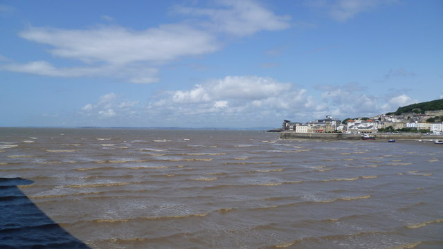 View from the Grand Pier, Weston-super-Mare in August