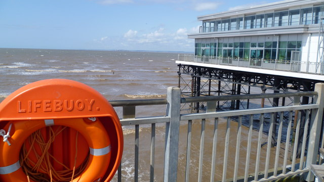 Part of the view from the end of the Grand Pier, Weston-super-Mare in August