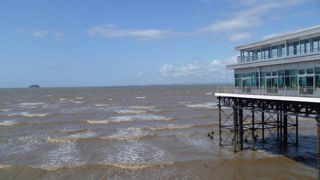 The view from the end of the Grand Pier in Weston-super-Mare