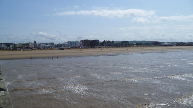 Weston-super-Mare viewed from the Grand Pier in summer