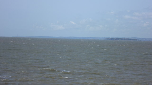 Flat Holm Island viewed from Weston-super-Mare