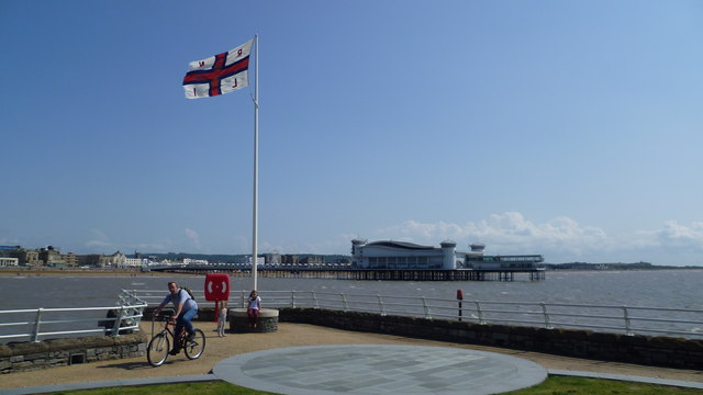 View from Knightstone Island towards the Grand Pier, Weston-super-Mare