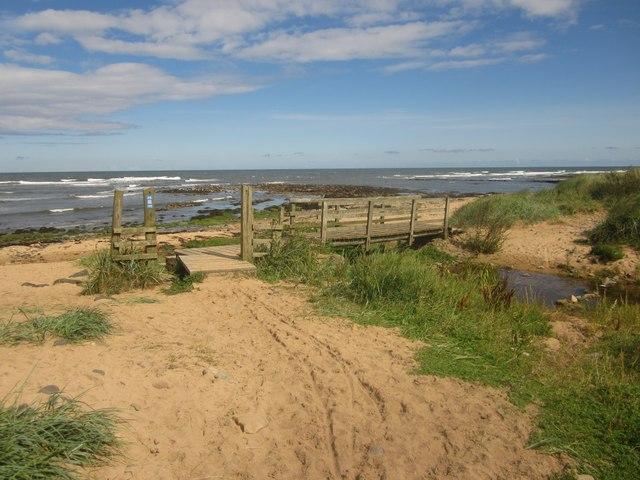 Footbridge on the Northumberland Coast Path