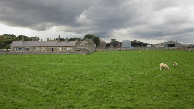 Farm buildings at Boulmer Hall