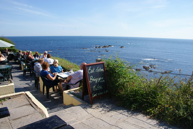 Cafe terrace on Lizard Point